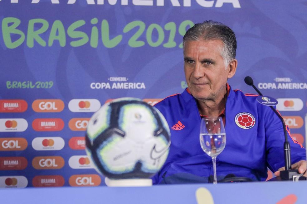 O português Carlos Queiroz é o técnico da Colômbia — Foto: Thiago Bernardes/CA2019
