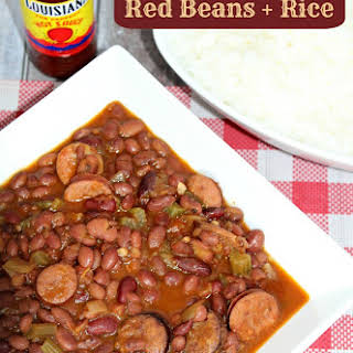 Kickin' Crockpot Red Beans and Rice.