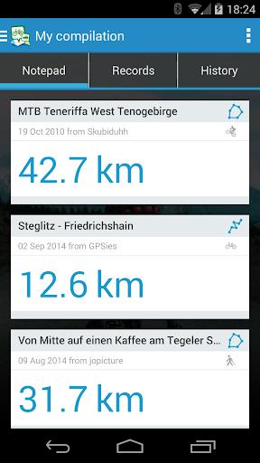 GPSies screenshot 5