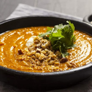 Roasted Curried Pumpkin, Parsnip And Chilli Soup