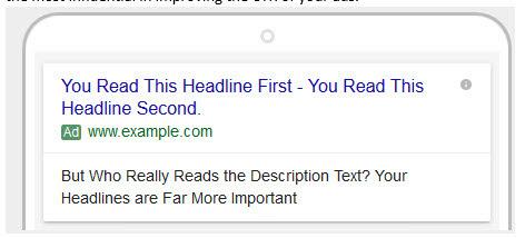 Thứ tự đọc quảng cáo Google AdWords của người xem