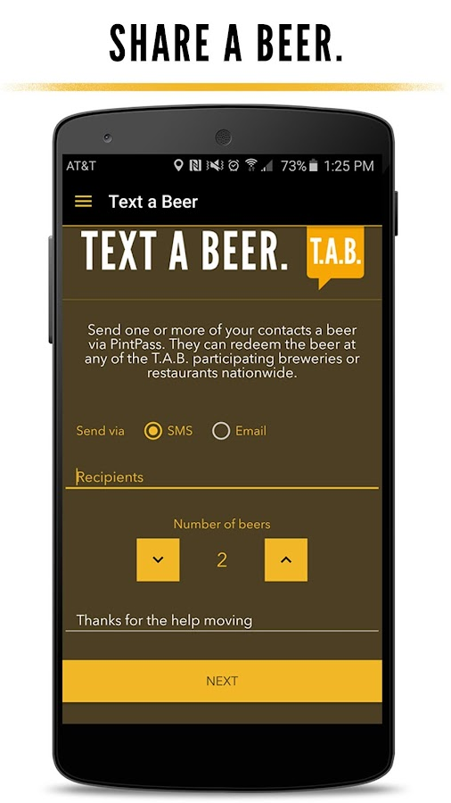 PintPass - Text craft beer- screenshot