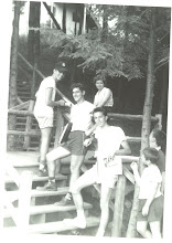 Photo: Hanging on the Stairs at Ramah Connecticut, ca. 1957