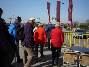 Photo: starten voor het 2de gedeelte van de route