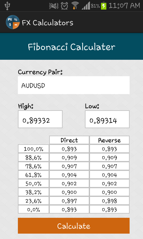 Forex calculations