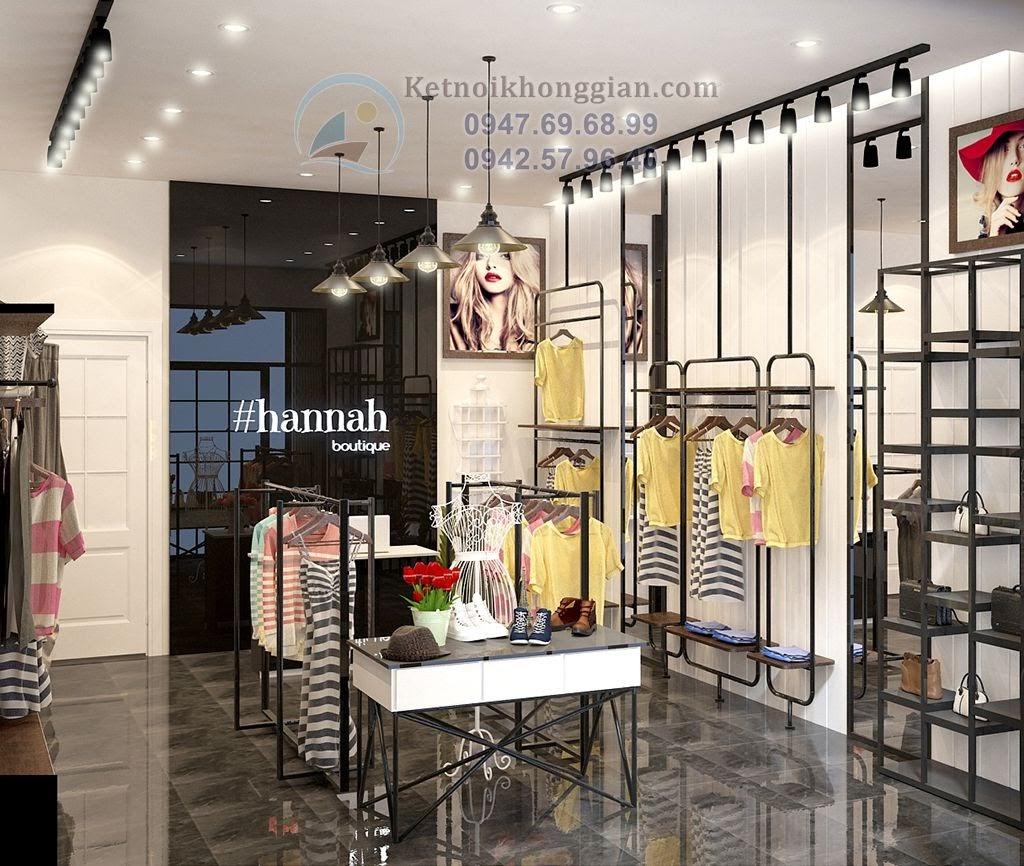 thiết kế cửa hàng thời trang đẳng cấp sang trọng