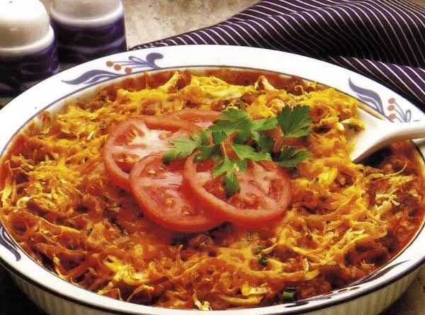 Meat Cabbage Casserole (oven Version)