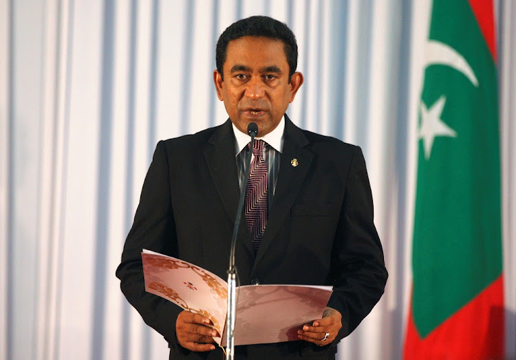 Abdulla Yameen, president of Maldives. Picture: REUTERS