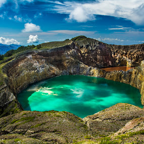 Magic Lakes by Sonny Saban - Landscapes Waterscapes ( ende, mountain, flores, east nusa tenggara, cloud, lake, travel, landscape )