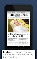 Screenshot of The Times & Sunday Times News