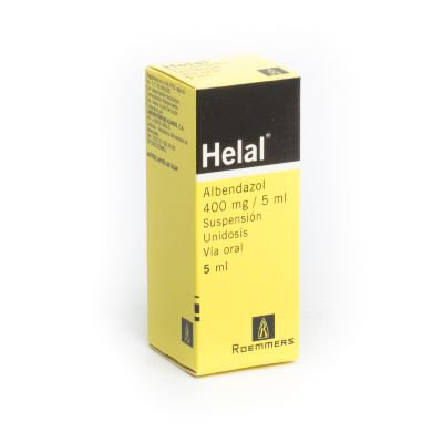 Albendazol Helal 400 mg Suspensión x 5 mL