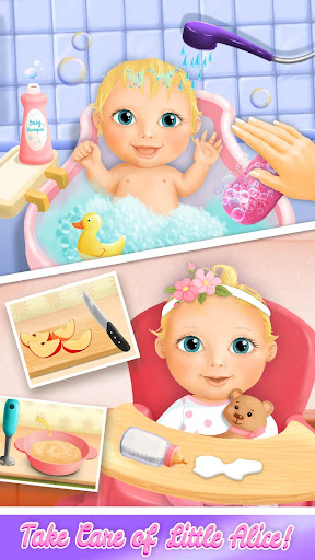 Sweet Baby Girl Doll House - Play, Care & Bed Time  screenshots 4