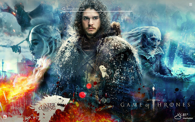 Game of Thrones HD Wallpaper New Tab Theme