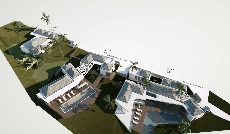 Villa avec piscine en bord de mer Saint Barthelemy