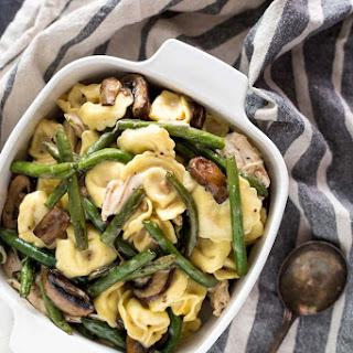 Creamy Mushroom Chicken Tortellini Casserole Recipe