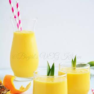 Pineapple Mango Orange Smoothie.