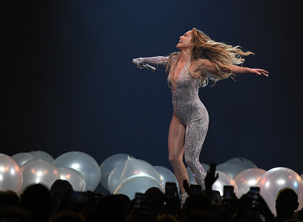 Jennifer Lopez, seen here in this file picture during It's My Party tour at T-Mobile Arena two years ago in Las Vegas, Nevada. She will be mesmerising fans at Vax Live concert next month.