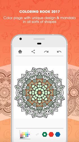 Mandala Coloring Book Android App Screenshot