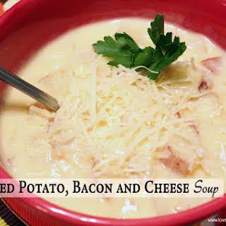 Creamy Red Potato, Bacon and Cheese Soup.