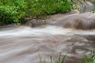 Photo: Experiments with long exposure, stream above Lichen Falls; PEEC Waterfall Hike ( 1-s exposure)