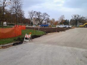 Photo: Restoration of former entrance drive 11-05-2013