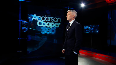Photo: Anderson Cooper on the set of 'Anderson Cooper 360' in New York                                       ™ & © Cable News Network. A Time Warner Company. All Rights Reserved.