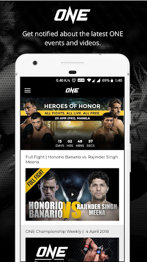 ONE Championship 1.1.12 screenshots 2