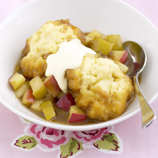 Apple Dumplings in Honey Syrup with Caramelized Apples.