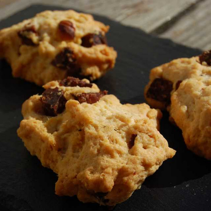 Salted Cookies with Hazelnut Sausage