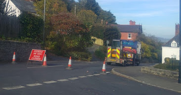 Mains water burst closes roads and Montgomery School