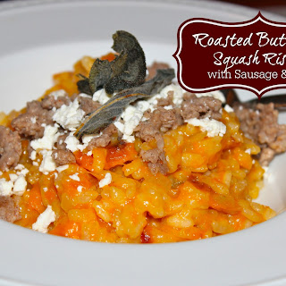 Roasted Butternut Squash Risotto with Italian Sausage & Feta
