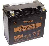 YUASA MC batteri 20Ah GYZ20L lxbxh=175x87x155mm
