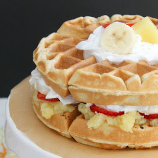 Banana Split Waffle Cake #SundaySupper