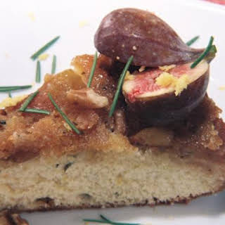 Fresh Fig, Walnut, Rosemary Upside Down Cake And A Crisp Citrusy Chardonnay.