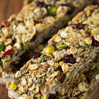 Cranberry Pistachio Granola Bars Recipe