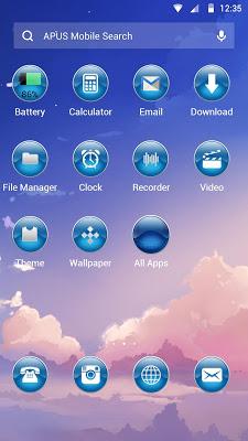 sunset-APUS Launcher theme - screenshot