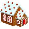 mini gingerbread house cartoon image