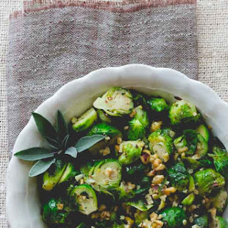 Brussels Sprouts With Hazelnuts, Oregano And Sage