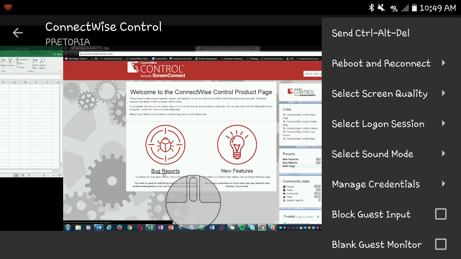 ConnectWise Control- screenshot