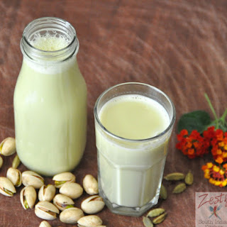 Pistachio Milk with Clove and Rosewater.