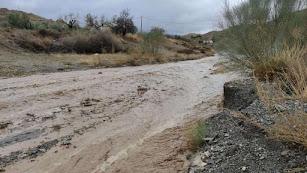 La lluvia hizo estragos en algunos puntos de la provincia.