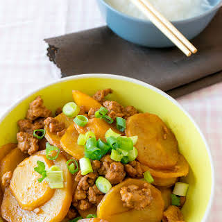 Chinese Potato and Minced Pork Stew.