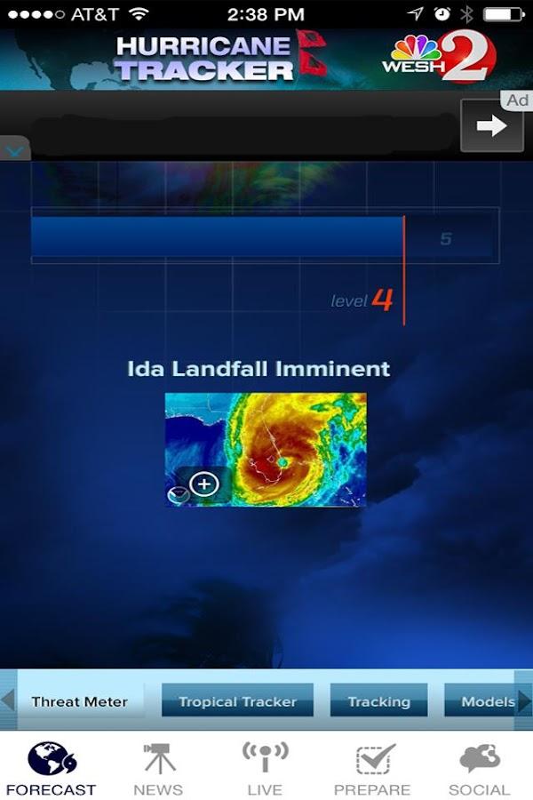 Hurricane Tracker WESH 2 - screenshot