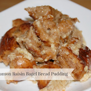 Cinnamon Raisin Bagel Bread Pudding