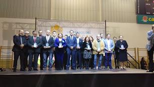 Foto de familia de los galardonados en los VII Premios Andarax.