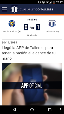 android Club Atlético Talleres Screenshot 1