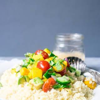 Mango Couscous Salad With Tahini Dressing.