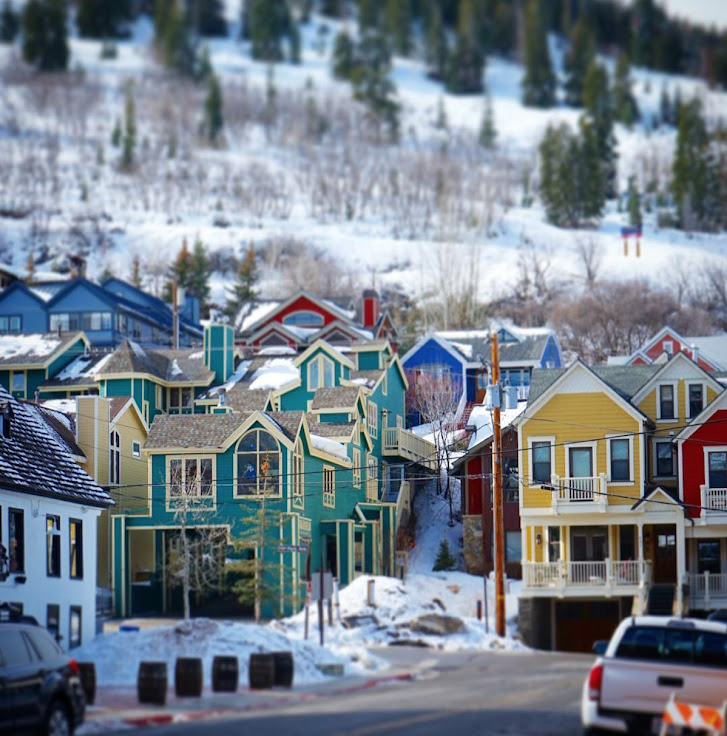 The houses at the bottom of the hill. Photo: Historic Park City