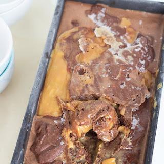Chocolate Ice Cream with Salted Caramel.