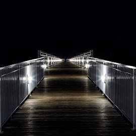 Oscoda Beach pier by Tammy Scott - Buildings & Architecture Bridges & Suspended Structures ( pier, piers, long exposure, night photography )